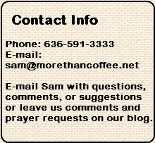 More Than Coffee contact info